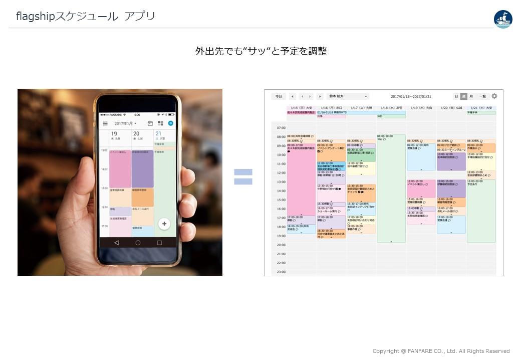 flagshipアプリ